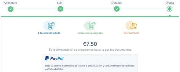 StuDocu te brinda dinero vía PayPal por tus apuntes